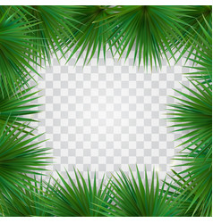 colorful naturalistic frame from the leaf of the vector image