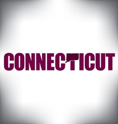 Connecticut state graphic vector image