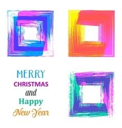Creative merry christmas card vector image vector image