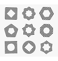 Line art modern label frames vector image vector image