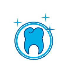 Logo Dental circle Healthy Care Tooth Protection vector image vector image