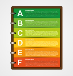 Modern design template infographic of notebook vector image vector image