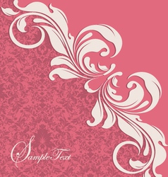 pink floral card vector image vector image