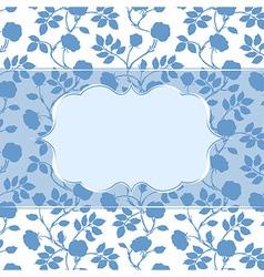 Postcard invitation editable template with frame vector image
