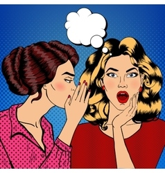 Young Woman Whispering Secret to her Friend vector image