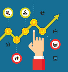 digital currency bitcoin - vector image vector image