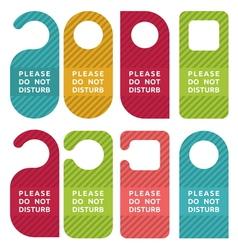 Do not disturb door hanger set vector image