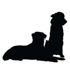 Pair of Dogs vector image vector image