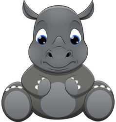 rhino baby vector image