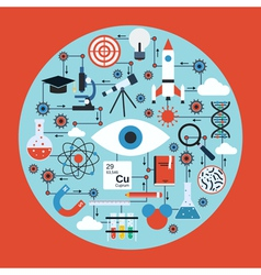 Science research concept vector image
