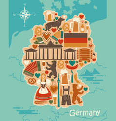 traditional symbols of germany in the form of a vector image vector image