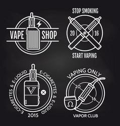 vape shop logo design on blackboard vector image