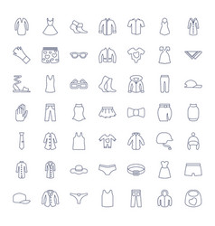 49 wear icons vector