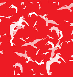 Abstract pattern of bird on the red vector