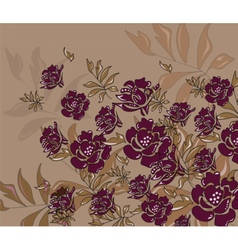Abstract roses composition vector
