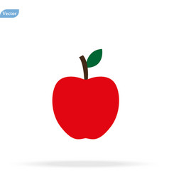 Apple icon isolated flat apple fruits vector