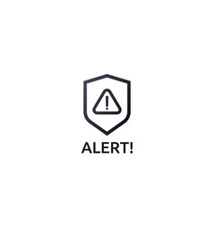 attention warning alert sign with exclamation vector image