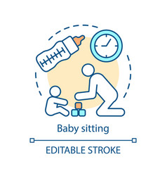 Baby sitting service concept icon vector