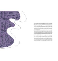 Bacteria cells banner vector
