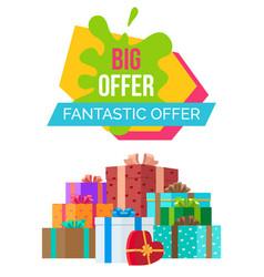 Big fantastic exclusive sale poster discount boxes vector