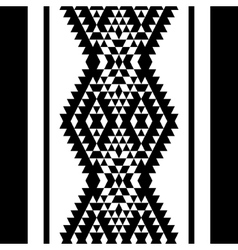 Black and white aztec striped ornaments geometric vector