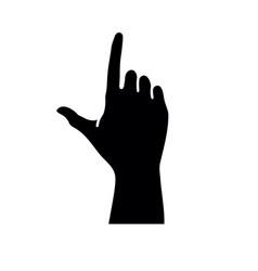 Black letter j hand sign letter j hand gesture vector