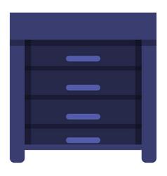blue nightstand icon cartoon style vector image