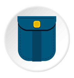 Blue shirt pocket with yellow button icon circle vector