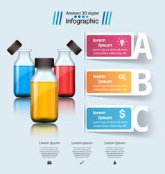 Business infographics medicine bottles recip vector