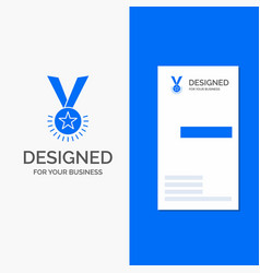 business logo for award honor medal rank vector image