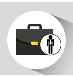 business man suitcase icon design vector image
