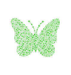 Butterfly in green design vector