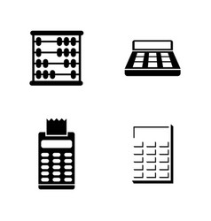 Calculation simple related icons vector