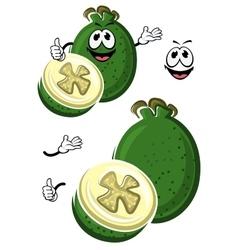 Cartoon australian feijoa fruit character vector image