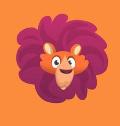 cartoon lion head icon vector image