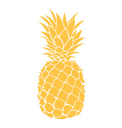 cartoon pineapple colorful print of fresh vector image