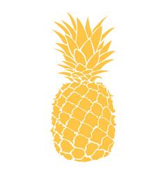 cartoon pineapple colorful print of fresh vector image
