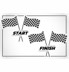checkered flag for start and finish race vector image