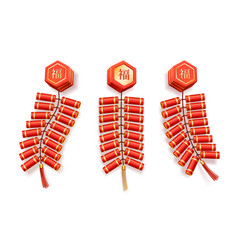 chinese new year petard firecrackers bundle vector image