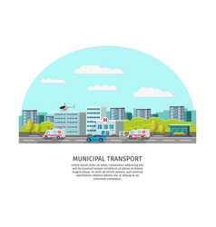 city transport light template vector image