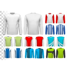 Collection of various male long sleeved shirts vector image