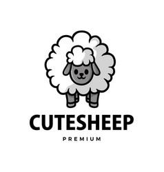 cute sheep cartoon logo icon vector image