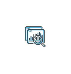 data icon design startup icon design vector image
