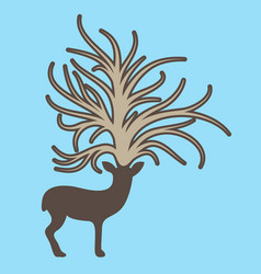 Deer with big tree on the head vector