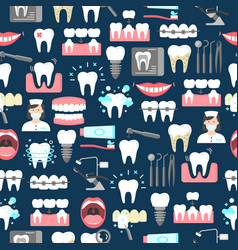 Dental seamless pattern vector