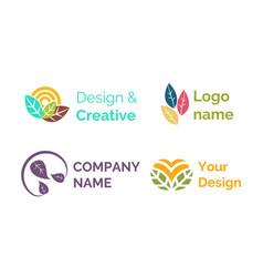 Design creative logo name brand company icon vector