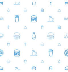 Drink icons pattern seamless white background vector