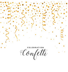 falling confetti and serpentine background vector image