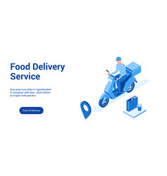 food delivery 3d template 2 vector image