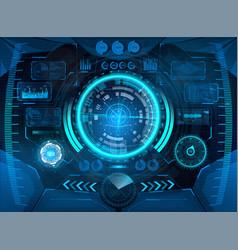 Futuristic vr head-up display design vector